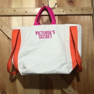 Victoria secret canvas tote bag